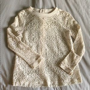 Banana Republic Cream Lace top